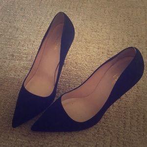Kate spade heel pumps black suede size 8